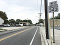 2017-08-21 09 18 18 View west along Maryland State Route 343 (Washington Street) at Maryland State Route 341 (Race Street) in Cambridge, Dorchester County, Maryland.jpg