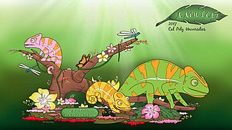 Cal Poly Universities Rose Float - Image: 2017 A New Leaf Rendering