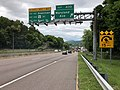 2019-05-17 12 42 57 View west along Interstate 68 and U.S. Route 40 and south along U.S. Route 220 (National Freeway) at Exit 43D (Maryland Avenue) in Cumberland, Allegany County, Maryland.jpg