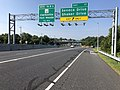 2019-08-07 09 06 57 View south along U.S. Route 29 (Columbia Pike) at Exit 17 (Seneca Drive, Shaker Drive) in Columbia, Howard County, Maryland.jpg