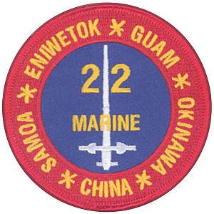22nd Marine Regiment (United States) - 22nd Marines insignia