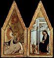 23 Andrea di Bartolo Diptych Annunciation c. 1383 Museum of Fine Arts, Budapest.jpg