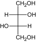 (2S,3S)-Threit (Fischer-Projektion)