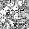 3. Militärische Aufnahme (-1887) Mrzyglod, Tyrawa am San.JPG