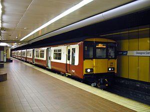 Argyle Line - Class 318 no.318257 at Glasgow Central low level