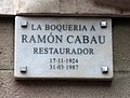 394 La Boqueria a Ramon Cabau, restaurador.JPG