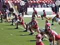 49ers on field pregame at Philadelphia at SF 10-12-08.JPG