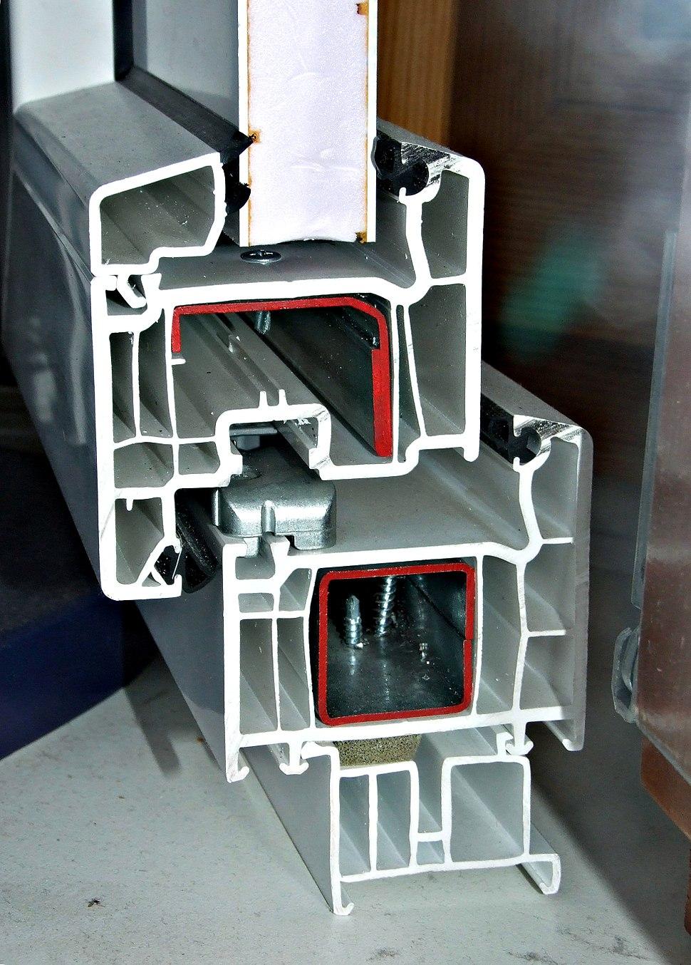 5-chamber plastic window profile