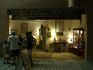 English: A fortune telling storefront on the b...