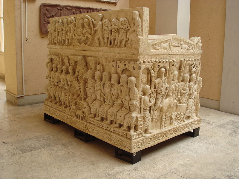 8742 - Roma, museo civiltà Romana - Sarcofago di Stilicone - Foto Giovanni Dall'Orto 12-Apr-2008.jpg