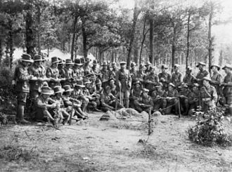 32nd Battalion (Australia) - Map reading class conducted by members of the 8th Brigade, on the Somme in July 1918