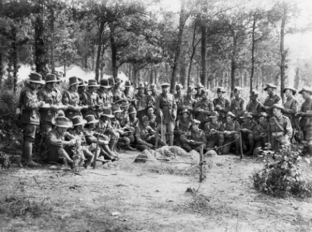 8th Brigade (Australia) infantry school map reading class, France 1918