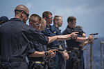 9mm pistol qualification aboard USS Shiloh 150615-N-BB269-085.jpg