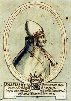 Pope Anastasius IV - Image: A02 ANASTASIO IV