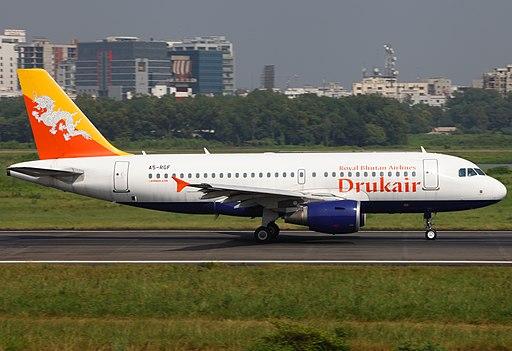 viajar a Bután A5-RGF Airbus A319-115 Druk Air