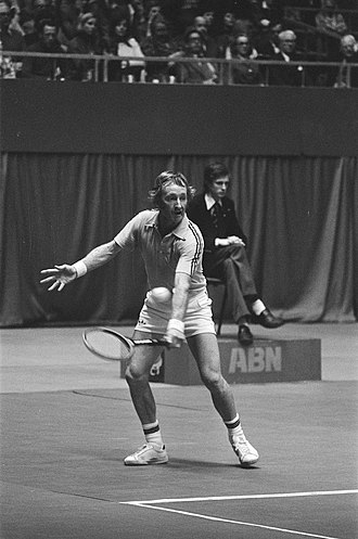 Rod Laver - Rod Laver at the 1976 ABN World Tennis Tournament in Rotterdam