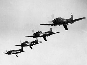 AD-1 Skyraiders VA-3B in flight 1948.jpeg