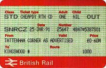 Tickets Issued With A Railcardedit