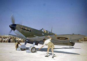 AVM Park opening RAF Safi Malta in Spitfire 1943.jpg