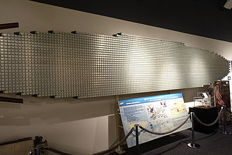 Boeing E-3 Sentry - AN/APY-1 antenna array in the National Electronics Museum