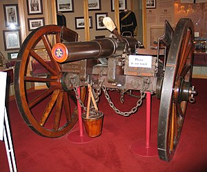 RBL 12 pounder 8 cwt Armstrong gun - At the Australian War Memorial, Canberra