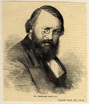Alexander Beresford Hope - Woodcut, after photograph by Henry Hering, 1856