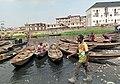 A Row of Canoes awaits incoming Passengers at Makoko-Yaba Lagos.jpg
