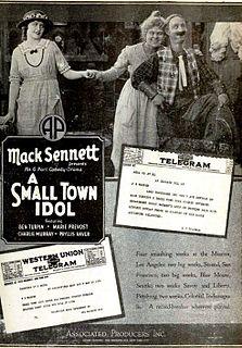<i>A Small Town Idol</i> 1921 film
