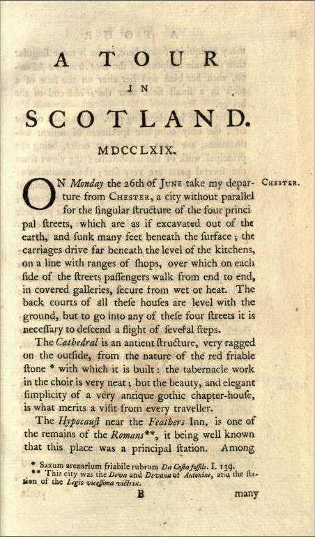 A Tour in Scotland by Thomas Pennant page 1