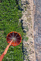 A helicopter bucket is used by a U.S. Army CH-47 Chinook helicopter crew assigned to the 2nd Battalion, 135th Aviation Regiment, Colorado Army National Guard to help fight the East Peak wildfire near La Veta 130621-Z-UA373-108.jpg