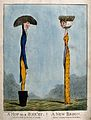 A man represented as a mop; a woman as a broom. Coloured etc Wellcome V0019847.jpg