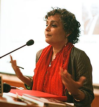 Arundhati Roy - Arundhati Roy at the Jamia Millia Islamia in March 2014