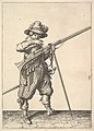 A soldier blowing on a match, from the Musketeers series, plate 40, in Wapenhandelinghe van Roers Musquetten Ende Spiessen (The Exercise of Arms) MET DP828803.jpg