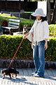 A woman with her dog@Takayama.jpg