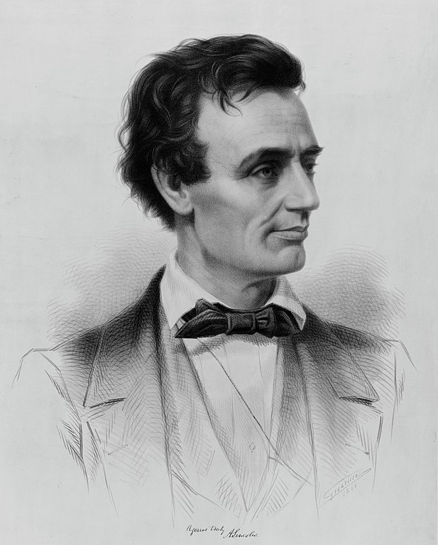 Abraham Lincoln Republican candidate for the presidency 1860