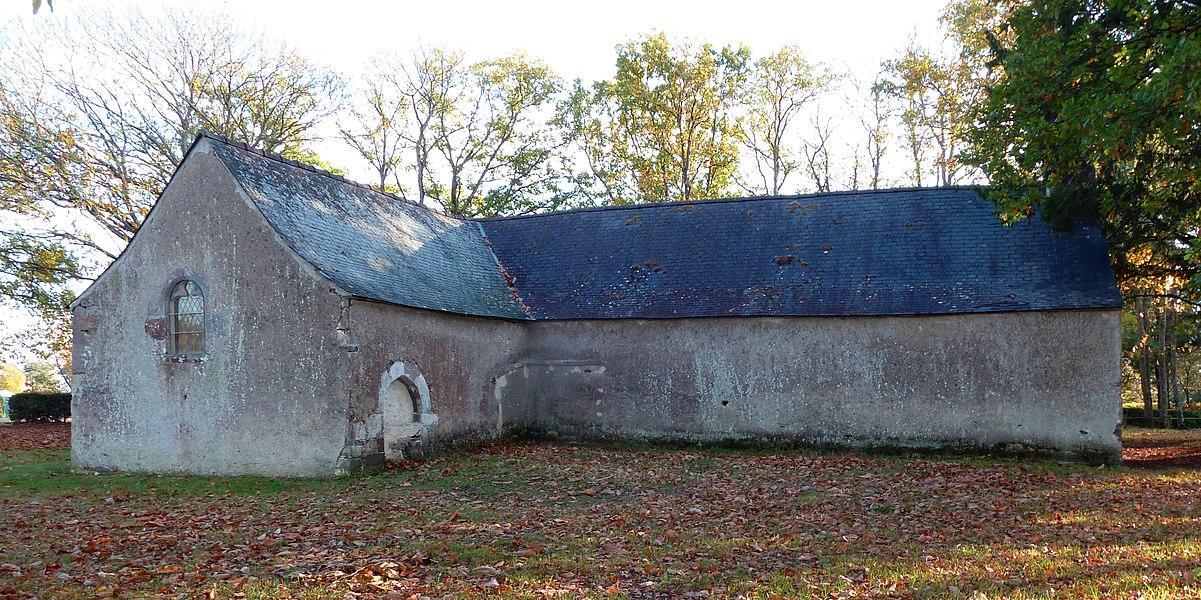 English:  Apse and north transept of Saint-Jean-d'Épileur chapel in Sainte-Marie, Ille-et-Vilaine, Brittany, France.