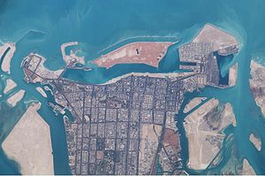Satellite image of Abu Dhabi (March 2003)
