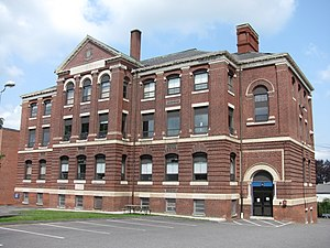 National Register of Historic Places listings in Southbridge, Massachusetts - Image: Academie Brochu, Southbridge MA