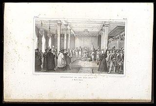 Acclamation du roi Dom Jean VI : à Rio de Janeiro