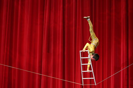 A high wire act by an acrobat Acrobat.jpg