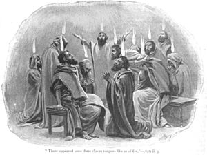 English: Apostles receive the gift of tongues ...