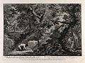 Adam prays in the Garden of Eden. Etching by J.E. Ridinger a Wellcome V0034426.jpg