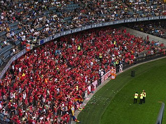 Adelaide United FC - Adelaide United supporters at the 2007 A-League Grand Final