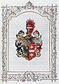 Adelsdiplom - Menschik von Delau 1870 - Wappen.jpg