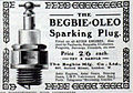 Advert for Begbie Oleo sparking plugs from May 1904, fitted on all Aster engines.jpg