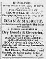 Advert for Dean & Mabbett - Poughkeepsie Journal - Apr 2 1805 - page 3.jpg
