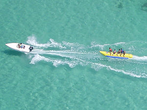 Banana boat (boat) - Banana boat, Varadero, Cuba