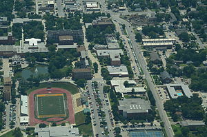 Aerial view of Emporia State University, Emporia, Kansas 09-04-2013.JPG