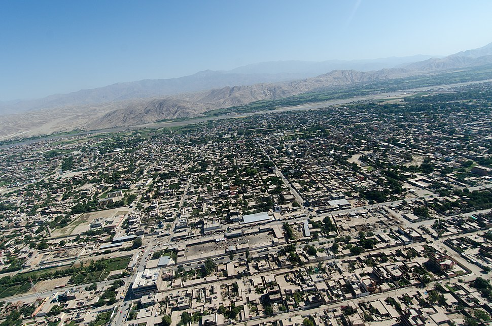 Aerial view of Jalalabad in 2012