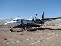 Aero Condor Peru Fokker F50 at Ayacucho.jpg